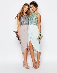 sequin top bridesmaid dresses bridesmaids the merry