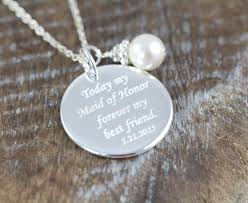 personalized wedding jewelry personalized gifts for of honor necklaces engraved wedding