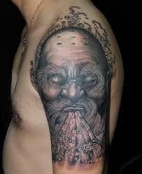 free designs praying monk on the arm