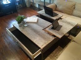 flip up coffee table pop up barn wood coffee table