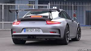 porsche gtr 3 2015 porsche 991 gt3 rs exhaust sound start up rev and