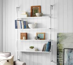 Wall To Wall Bookcases Olivia Wall Mounted Shelves Pottery Barn