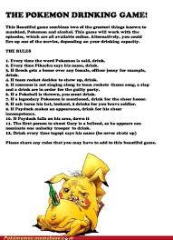 Meme Drinking Game - pokemon drinking game meme by zaff memedroid