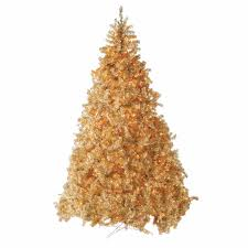 classic champagne gold full pre lit christmas tree hayneedle