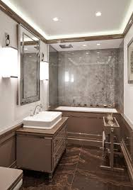 high gloss paint bathroom contemporary with brown marble chrome