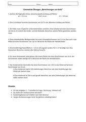 kreisberechnung fläche 4teachers lehrproben unterrichtsentwürfe und unterrichtsmaterial