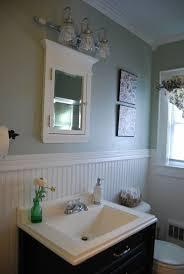 mid century beadboard bathroom interior design feats mounting