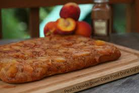 peach upside down cake food done light
