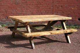 rustic outdoor picnic tables rustic wood picnic table coma frique studio b4e4aed1776b