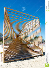 geometric wooden sculpture editorial photo image of 68296936