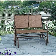 Bench Outdoor Furniture Amazon Com Patiopost Glider Bench Outdoor 2 Person Loveseat
