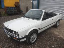 bmw e30 325i convertible for sale bmw e30 325i convertible in white black leather 95k fsh for sale