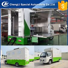 new design 4x2 fast food mobile kitchen trailer food frozen