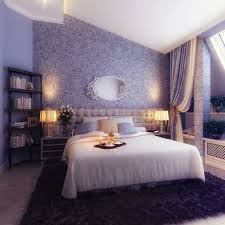 Bedroom Purple Wallpaper - bedroom beautiful looks of purple and blue bedroom ideas brings