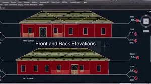 autocad architecture a1 floor plan trailer youtube