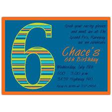 birthday boy stripes 6th birthday invitations paperstyle