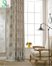 Burgundy Curtains For Living Room Online Get Cheap Curtain Flowers Jacquard Aliexpress Com