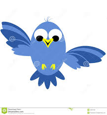 animated blue bird clipart collection