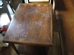 how to refinish veneer table possible to restore veneer table top