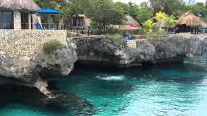 bridge jumping rock house hotel negril jamaica youtube