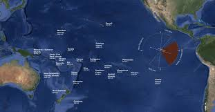Map Of Pacific Ocean Sailing Against Prevailing Winds Spotting Big Islands