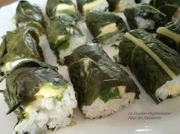 cuisiner des feuilles de blettes makis de feuilles de blettes à l avocat la cuisine végétalienne