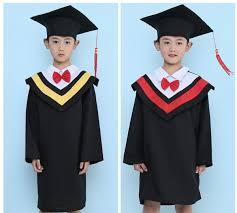 kindergarten cap and gown 2017 kids primary school graduation gown with hat performance