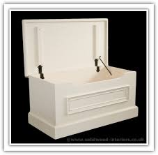 solid wood interiors u003e wite painted solid pine blanket box