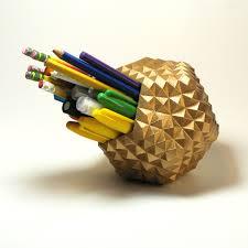 gold pencil cup pencil organizer pen cup holder pen holder
