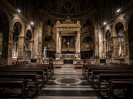 Cathedral Interior Cathedral Interior Religious With Benches Empty In Back Free