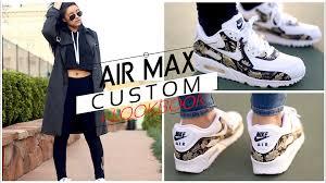 custom nike air max 90 tutorial lookbook speed painting floral