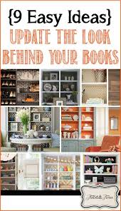 Bookcase Decorating Ideas Living Room Update The Look Behind Your Books 9 Easy Ideas Tidbits U0026twine