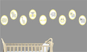 Safari Nursery Wall Decals Yellow Baby Safari Animal Wall Decals Stickers Safari Nursery