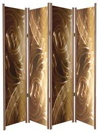 Folding Room Divider Fancy Brass