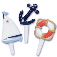 nautical cake toppers cake toppers nautical cupcake picks
