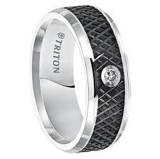black mens wedding rings triton s148mc black tunsten 9mm wedding band at mwb