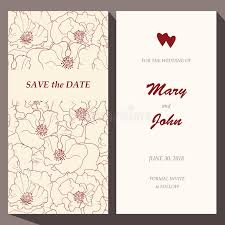 vector card template for save the date baby stock vector image
