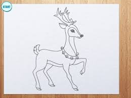 how to draw reindeer youtube