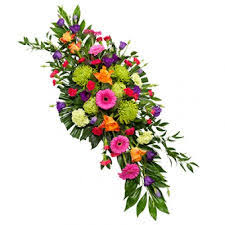 funeral flowers delivery colourful funeral spray