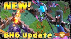 new update builders hall 6 night witch and roaster clash of