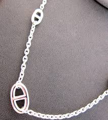 silver solid necklace images Hermes farandole long solid silver classic chain necklace at 1stdibs jpeg