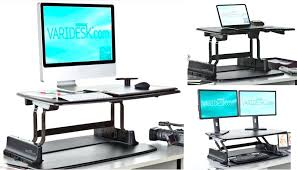 Computer Desk For Two Monitors Magnificent Standup Desk Converter Ideas Stand Up For 2 Monitors