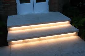 led outdoor strip lighting rigid bar strip lights under the steps outsidr no more tripping