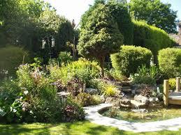 lawn u0026 garden small pond and stream with deck beautiful garden