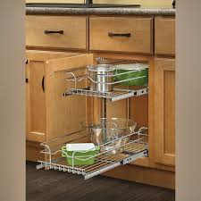 kitchen cabinet storage solutions lowes rev a shelf 12 pullout 2 tier wire basket cookware cabinet