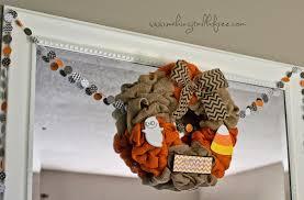 halloween burlap wreath making it milk free pumpkin carving party 2014