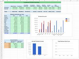 Financial Tracking Spreadsheet Dividend Stock Portfolio Tracker With Transactions Page U2013 Two