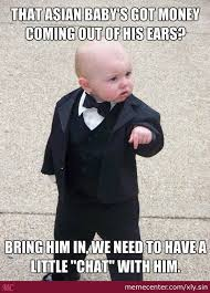 Baby On The Phone Meme - the mafia hears all your phone calls aren t safe business baby by