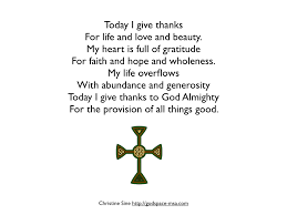 personal thanksgiving prayer festival collections