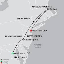 Usa East Coast Map Usa East Coast Tour Vacations Packages Holidays Cosmos